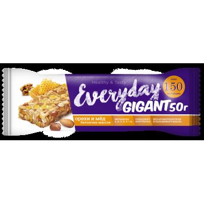 Батончик EVERYDAY GIGANT орехи/мёд, 50 г