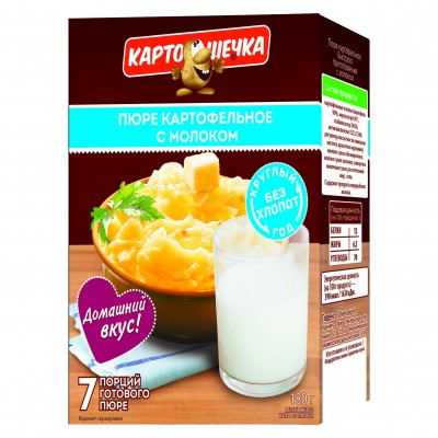 Mashed potatoes with milk (box), 180 g