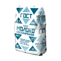 Powdered whole milk GOST 26% fat (package), 200g