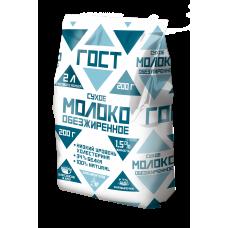 Молоко сухое цельное ГОСТ 1,5% жирности (в пакете), 200г