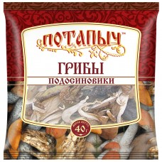Грибы натуральные сухие, подосиновики, Потапыч, 40 г