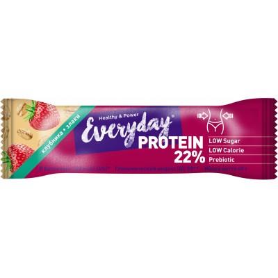 Батончик протеиновый с клубникой и злаками 22% белка, 40 г