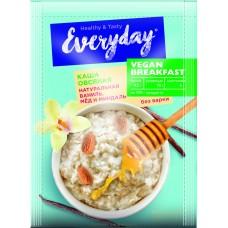 Каша овсяная EVERYDAY VEGAN Breakfast Натуральная ваниль, мед, миндаль, 37 г