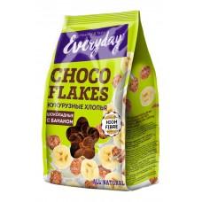 Хлопья EVERYDAY кукурузные шоколадные с бананом, 200 г пакет