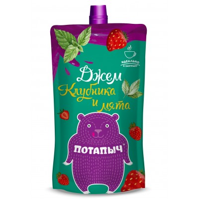 Potapych, strawberry and mint jam, 300 g