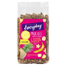 Baked muesli EVERYDAY with banana and candied pineapple , 300 g