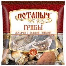 Грибы натуральные сухие, ассорти с белыми грибами, Потапыч, 45 г