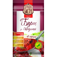 Борщ ДОМ.БИСТРО с говядиной (пакет), 60 г