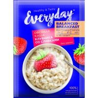 Каша овсяная EVERYDAY Balanced Breakfast Клубника со сливками, 40 г