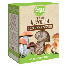 Dried mushrooms FOREST LANDS Assorted with porcini mushrooms (cardboard), 45 g