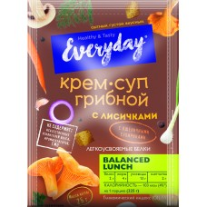 EVERYDAY mushroom cream soup with chanterelles and wheat croutons (package), 25 g