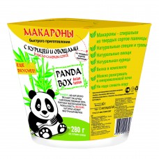 Instant pasta with chicken and vegetables in sweet and sour sauce Panda box, 60 g