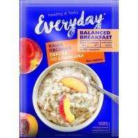 Каша овсяная EVERYDAY Balanced Breakfast Персик со сливками, 40 г