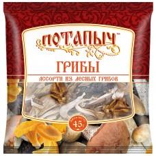 Грибы натуральные сухие, ассорти с лесными грибами, Потапыч, 45 г