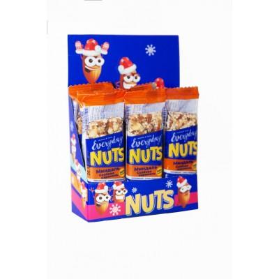 Батончик ореховый EVERYDAY NUTS Миндаль-Соленая карамель, 40 г