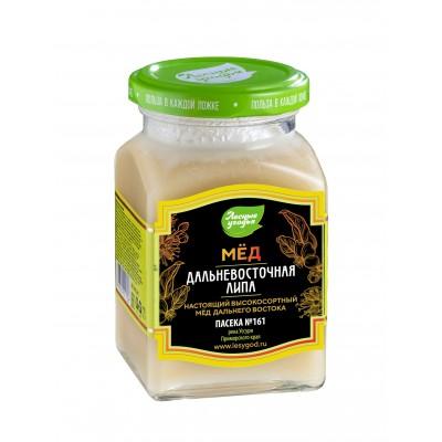 Мёд натуральный Дальневосточная липа, ЛЕСНЫЕ УГОДЬЯ , 320 г