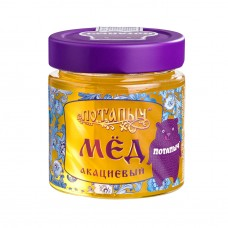 Мёд натуральный жидкий акациевый Потапыч, 250 г