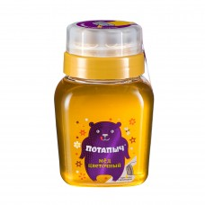 Natural floral honey in a jar with a dispenser, Potapych, 500 g