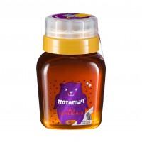 Мёд натуральный гречишный в банке с дозатором, Потапыч, 500 г