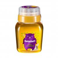 Мёд натуральный липовый в банке с дозатором, Потапыч, 500 г
