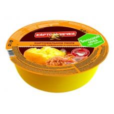 Картошечка картофельное пюре с говядиной и гренками / соус «Шашлычный» (Большой обед), 72 г