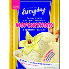 Dry dessert EVERYDAY for ice cream with vanilla flavor, 55 g